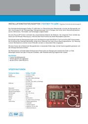 Testboy TV 440N EARTHING RESIS. METER Testboy TV 440N Data Sheet
