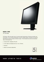 Eizo FlexScan® 19 inch LCD L788-K Leaflet
