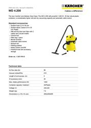 Kärcher WD 4.200 1.347-701.0 User Manual