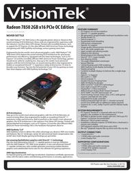 VisionTek 900568 Leaflet
