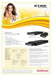 "ICY BOX 2.5"" SATA Enclosure 20292 전단"