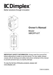 Dimplex WRCPF-KIT User Manual