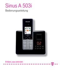 Telekom Cordless ISDN Sinus A503i Answerphone Colour Black, Silver 40-05-8546 Data Sheet