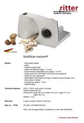 Ritter Markant 05 501.020 Leaflet