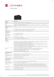Leica V-LUX 2 18392 Leaflet