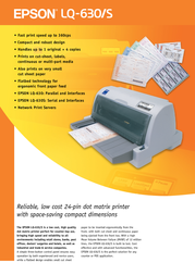 Epson LQ-630 C11C480014DA Листовка