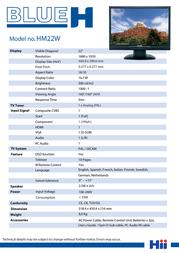 Blue H HM22W Leaflet