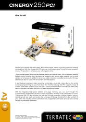 Terratec Cinergy 250 PCI 10259 Leaflet