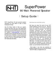 NHT SuperPower 90 Watt Powered Speaker -9993 User Manual