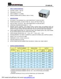 Seventeam ST-400P-AD Leaflet