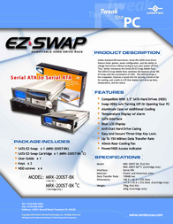 Vantec EZ Swap 2: MRK-200ST-BK MRK-200ST-BK Leaflet