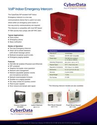 CyberData Systems 011035 Leaflet