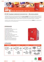 Salicru SPS.500.ONE 662AA-01 Leaflet
