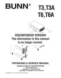 Bunn Ice Tea Maker T6 User Manual