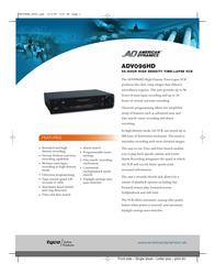 American Dynamics ADV096HD Data Sheet
