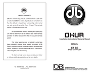 DB Link DB Research Car Amplifier Bass Enhancer User Manual