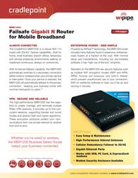Cradlepoint MBR1200 Leaflet