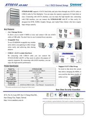 """Stardom 3.5"""" SATA Enclosure ST5610-4S-SB2 Leaflet"""