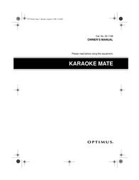 Optimus KARAOKE MATE 32-1158 User Manual