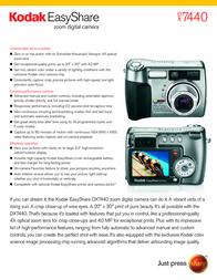 Kodak EASYSHARE DX7440 3907516 User Manual