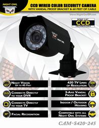 Night Owl Optics CAM-S420-245 User Manual