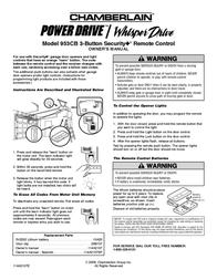 Chamberlain POWER DRIVE 953CB Leaflet