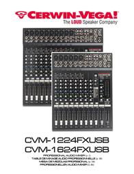 Cerwin-Vega CVM-1224FXUSB User Manual