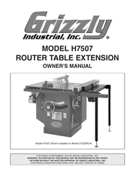 Grizzly H7507 User Manual