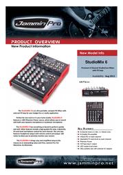Jammin Pro StudioMix 6 5480000 Leaflet