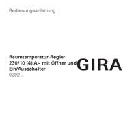 Gira Thermostat 039227 039227 Data Sheet