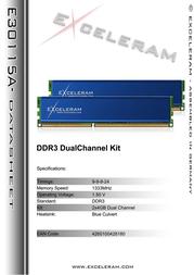 Exceleram 8GB DDR3 PC3-10666 E30115A Leaflet