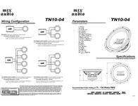 MTX TN10-04 Owner's Manual