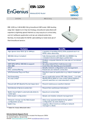EnGenius ESR-1220 Wireless Broadband Router/AP/WDS ESR-1220 Leaflet