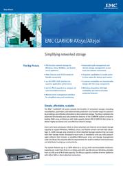 EMC Clariion AX150SCi AX150SCI-250 Data Sheet