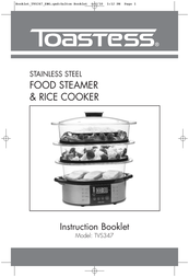 Toastess Food Steamer & TVS347 User Manual