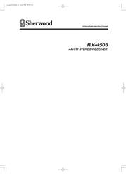 Sherwood RX-4503 User Manual