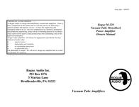 Rogue Audio M-120 User Manual