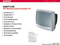 Magnavox 20MT133S Brochure