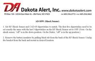 Dakota Alert Inc. Stud Sensor AD-SSW Leaflet