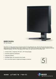 Eizo FlexScan® 19 inch LCD S1921SA-GY Leaflet