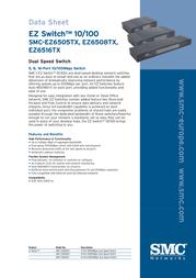 SMC EZ Switch 5-Port 10/100 Ethernet SMCEZ6505TX EU Data Sheet