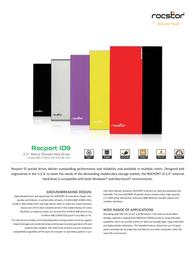 Rocstor Rocport ID 9 500 GB B349K5-RD Leaflet