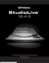PreSonus STUDIOLIVE 16.4.2 - V1.12 User Manual