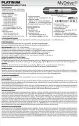 Platinum MyDrive 500 GB 103836 User Manual