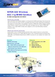 SparkLAN WPCR-300 Leaflet