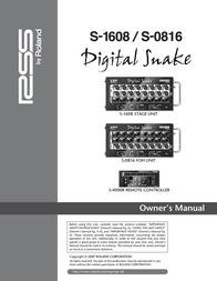 Roland Wheelchair S-1608 User Manual