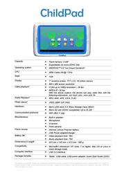 Arnova ChildPad 502170 Leaflet