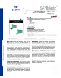 QLogic 64-bit cPCI to 2Gb single channel Fibre Channel adapter multi-mode optic QCP2340-CK Leaflet