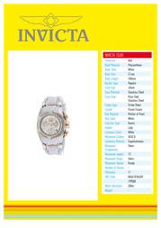 Invicta 15280 Specification Guide