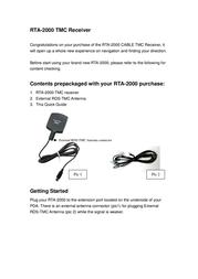 RoyalTek TMC Receiver RTA-2000 Leaflet